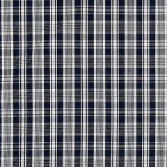 27122-005 PRESTON COTTON PLAID Navy Scalamandre Fabric