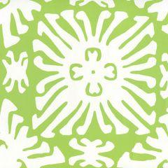 2485WP-02 SIGOURNEY REVERSE SMALL SCALE Jungle Green On White Quadrille Wallpaper