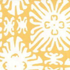 2485WP-03 SIGOURNEY REVERSE SMALL SCALE Yellow On White Quadrille Wallpaper