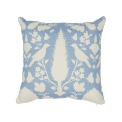 """SO17356704 CHENONCEAU Schumacher Pillow-18"""" x 18""""-Sky and White"""