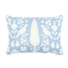 """SO17356715 CHENONCEAU Schumacher Pillow-20"""" x 14""""-Sky and White"""