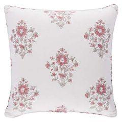 """SO17376305 BEATRICE BOUQUET Schumacher Pillow-20"""" x 20""""-Pink"""