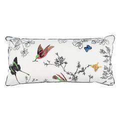 BIRDS & BUTTERFLIES Multi On White Schumacher Pillow