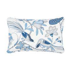 """SO17595217 CAMPAGNE Schumacher Pillow-22"""" x 14""""-Bleu and Gris"""