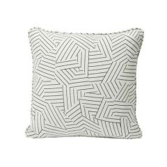 SO17605 DECONSTRUCTED STRIPE Schumacher Pillow-Black and White