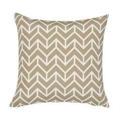 """SO17669005 CHEVRON INDOOR/OUTDOOR Schumacher Pillow-20"""" x 20""""-Sand"""