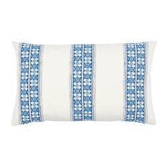 SO17937122 AMIRA HAND BLOCKED PRINT Schumacher Pillow-Indigo
