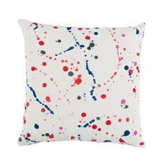 SO17971 INK SPLASH Red Blue Schumacher Pillow