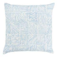 "SO17990106 KATAMA Schumacher Pillow-22"" x 22""-Sky"