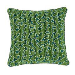 SO7713 CORAIL VELVET Schumacher Pillow-Emerald