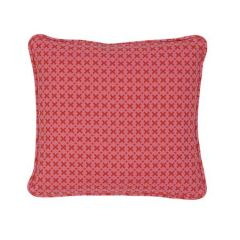 """SO7720102 ELIAS Schumacher Pillow-14"""" x 14""""-Pink and Red"""