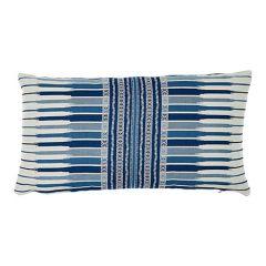"""SO7761024 ATCHISON Schumacher Pillow-27"""" x 14""""-Blue"""