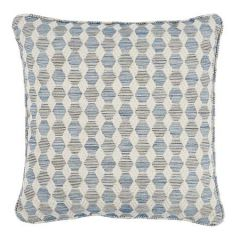 """SO7984004 COQUINA Schumacher Pillow-18"""" x 18""""-Blue"""