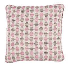 """SO7984204 COQUINA Schumacher Pillow-18"""" x 18""""-Pink"""