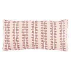SO8052018 ALVA HAND BLOCK PRINT Schumacher Pillow-Blush