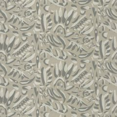 STENCIL ART Titanium Fabricut Fabric