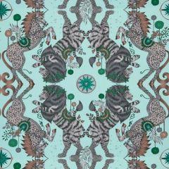 W0113/01-CAC CASPIAN WP Aqua Clarke & Clarke Wallpaper