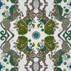 W0113/04-CAC CASPIAN WP Lime Clarke & Clarke Wallpaper