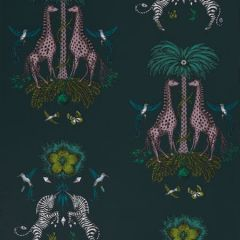 W0114/03-CAC CREATURA Teal Clarke & Clarke Wallpaper