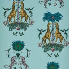 W0114/04-CAC CREATURA Turquoise Clarke & Clarke Wallpaper