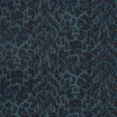 W0115/07-CAC FELIS Navy Clarke & Clarke Wallpaper