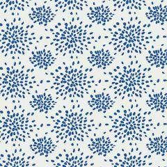 WHN 000B P1020 FIREWORKS Blue On White Scalamandre Wallpaper