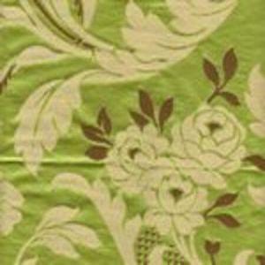 009973T VILLA EMO Verde Marrone Quadrille Fabric