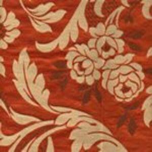 009974T VILLA EMO Flame Marrone Multi Quadrille Fabric