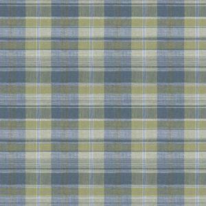 PLAID COIR Bluegrass Fabricut Fabric