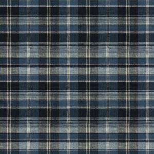 PLAID COIR Navy Fabricut Fabric