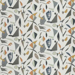 GRAPHIC SHAPE Apricot Fabricut Fabric