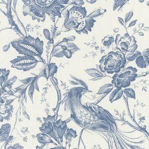 1048044 BIRDS OF PARADISE Blue Schumacher Fabric