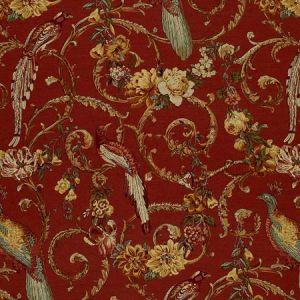 1124001 MADRIGAL Brick Red Schumacher Fabric