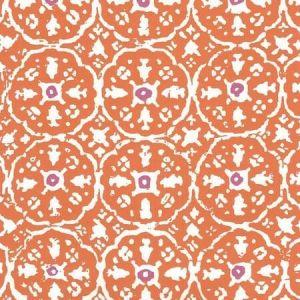149-61WP NITIK II Orange Magenta On Almost White Quadrille Wallpaper