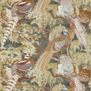 FG085-A101 Game Birds Charcoal Mulberry Home Wallpaper