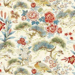 16601-004 SHENYANG LINEN PRINT Sandalwood Scalamandre Fabric
