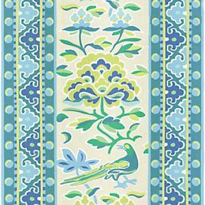 16613-001 ROYAL PEONY LINEN PRINT Coastal Scalamandre Fabric