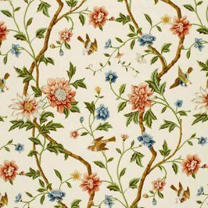 172441 SHANGTU FLORAL Porcelain Schumacher Fabric