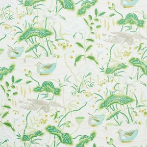 172939 LOTUS GARDEN Leaf Schumacher Fabric