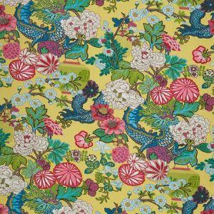 173281 CHIANG MAI DRAGON Yellow Schumacher Fabric