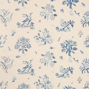 176753 MAGICAL MENAGERIE Blues Schumacher Fabric