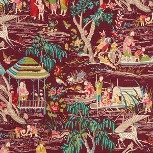 176772 YANGTZE RIVER Aubergine Schumacher Fabric