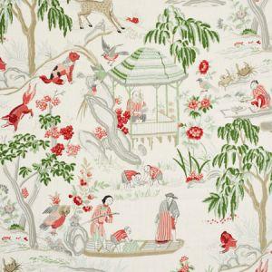 176774 YANGTZE RIVER Ivory Schumacher Fabric
