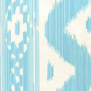 2020-04AWP BALI HAI Turquoise On Almost White Quadrille Wallpaper