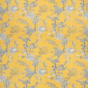 2020120-450 BEIJING BLOSSOM Amber Navy Lee Jofa Fabric