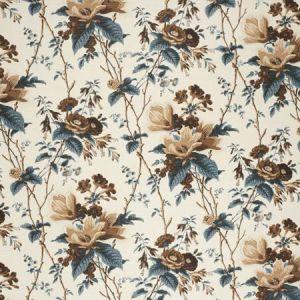 2020129-561 DE LA TOUR Blue Brown White Lee Jofa Fabric
