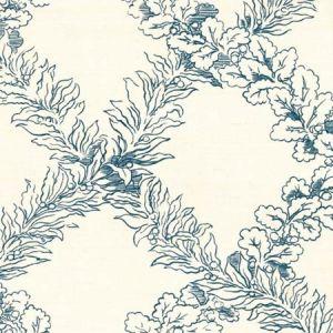 2020138-150 LEAF TRELLIS Blue Lee Jofa Fabric