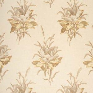 2020143-1611 MELBA FLOWER Grey Ecru Lee Jofa Fabric