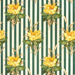 2020144-403 MELBA FLOWER STRIPE Yellow Lee Jofa Fabric
