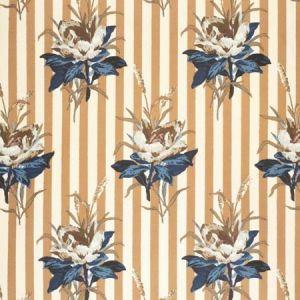 2020144-56 MELBA FLOWER STRIPE Blue Lee Jofa Fabric